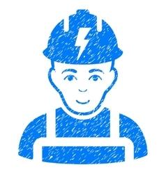 Electrician Grainy Texture Icon vector