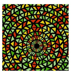 Ethnic traditional colorful bright round pattern vector