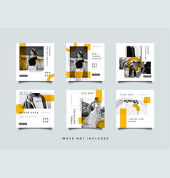 fashion social media post template collection vector image