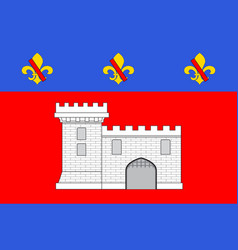Flag of villefranche-sur-saone in rhone is a vector