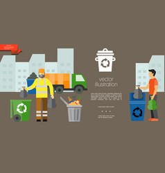 flat garbage colorful template vector image