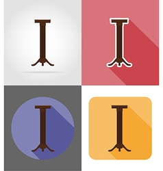 Furniture flat icons 25 vector