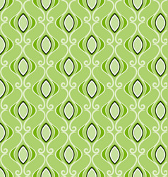 geometric patterns green vector image
