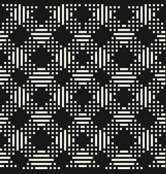 geometric seamless pattern with linear grid vector image