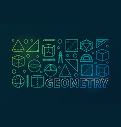 Geometry colorful outline banner vector