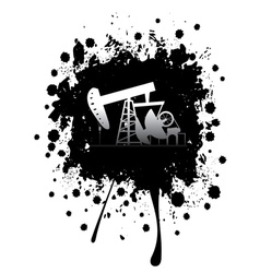 Grunge Oil Pump3 vector