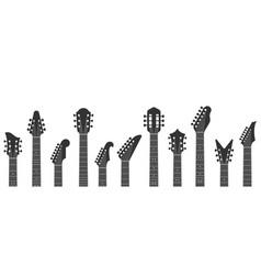 Guitar headstocks guitars necks rock music and vector