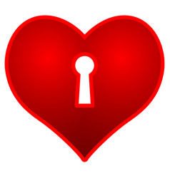 heart and keyhole vector image