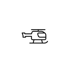 helicopter copter icon vector image