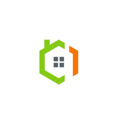 house architecture exterior icon logo vector image