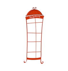 Icon Telephonebox vector