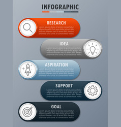 infographicfor modern business concept with 5 opti vector image