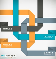 Interlaced Ribbons vector image