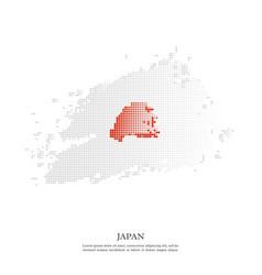 japanese flag with halftone effect vector image