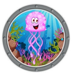jellyfish cartoon vector image