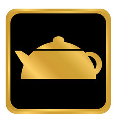 Kettle button on white vector