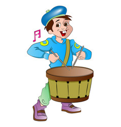 little drummer boy vector image