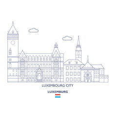 Luxemburg city skyline vector