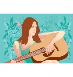 Music woman vector