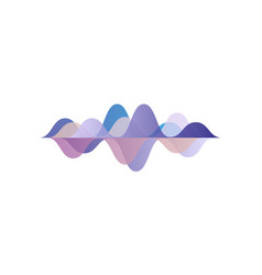 musical pulse sound waves audio equalizer vector image