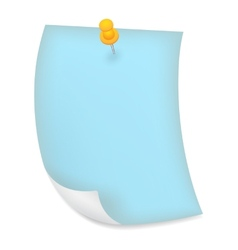 Old blue sheet of paper vector image