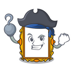 Pirate picture frame character cartoon vector