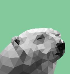 Poly Polar Bear vector