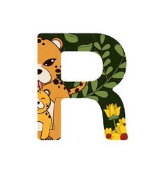 R font letter vector