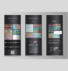 roll up banner stands abstract style templates vector image