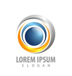 rotate swoosh logo concept design symbol graphic vector image