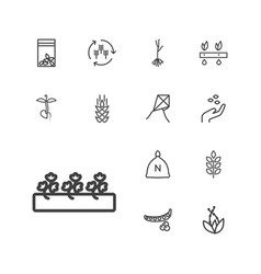 Seed icons vector