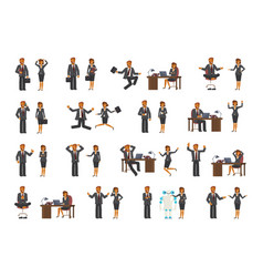 smart businessman and business woman characters vector image