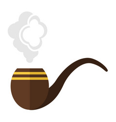 smoke pipe cartoon vector image