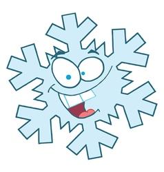 Snowflake Character vector image