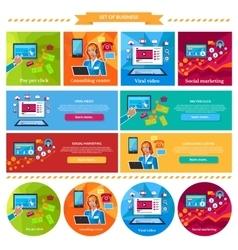 Social Marketing Consulting Center Concept vector