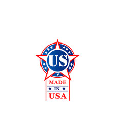 star icon for made in usa tag vector image