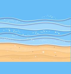Summer sea beach background vector
