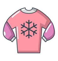 sweater icon cartoon style vector image