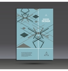 Templates geometric abstract design in A4 Modern vector image