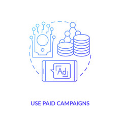 Use paid campaigns concept icon vector