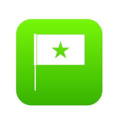 vietnam flag icon digital green vector image