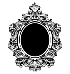 vintage luxury mirror frame baroque vector image