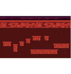 Wall game background style vector