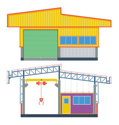 warehouse building transport factory vector image