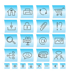 Website icons and buttons vector