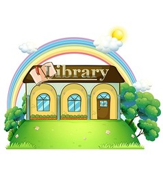 A library at the top of the hill vector image vector image