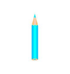 blue wooden pencil vector image vector image