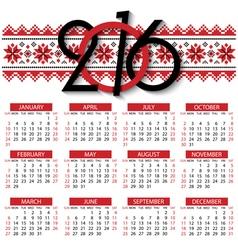 Calendar 2016 design template vector image