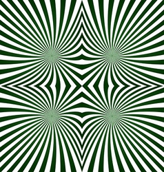 Green striped symmetric ray pattern vector image vector image