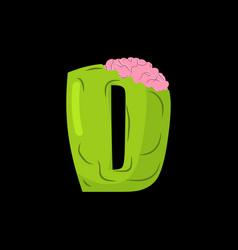 letter d zombie font monster alphabet bones and vector image vector image